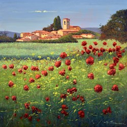 Nei Campi di Fiori di Selvaggio III by Bruno Tinucci -  sized 39x39 inches. Available from Whitewall Galleries